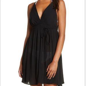 Elan   Black Cover-up Mini Dress